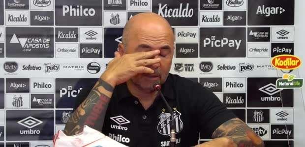 """SANTOS: Sampaoli espera melhorar """"partida a partida"""" ..."""