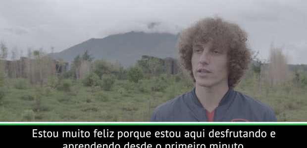 "ARSENAL: David Luiz em visita a Ruanda: ""Desfrutando e ..."