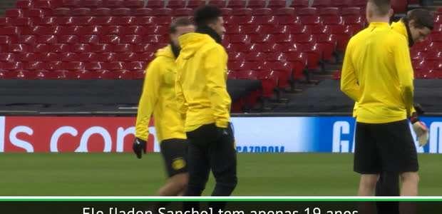 """Bundesliga: Favre: """"Expectativa em Jadon Sancho é enorme"""""""