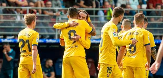 Com gols de Messi, Suárez e Griezmann, Barcelona vence o ...