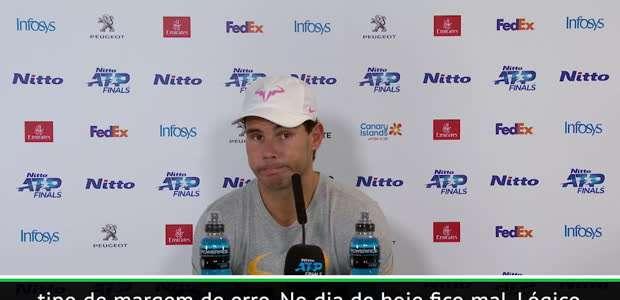 """TÊNIS: ATP Finals: Rafael Nadal: """"Agora não existe ..."""