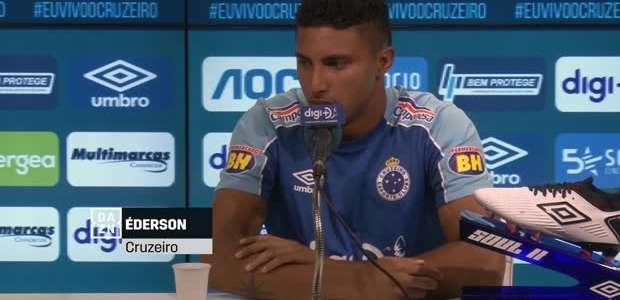 """CRUZEIRO: Éderson projeta duelo contra o Santos: """"Temos ..."""