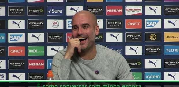 """Guardiola tira onda e jornalista rebate: """"É como se ..."""