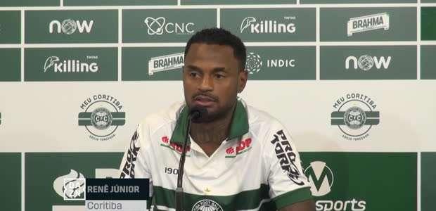 """CORITIBA: Renê Júnior revela meta pessoal: """"Jogar o ..."""