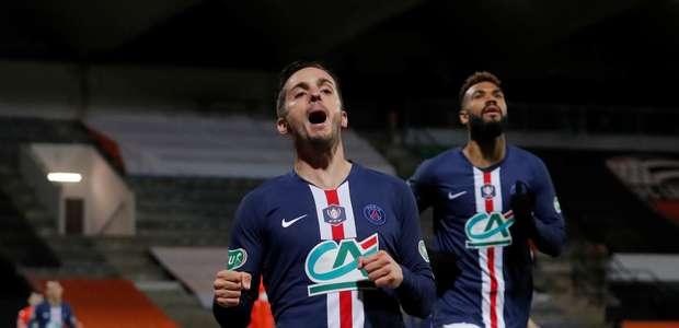 PSG sofre sem Neymar e Mbappé, mas avança na Copa da França