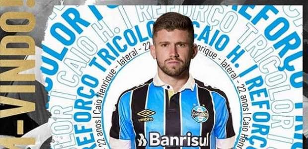 Reforço na esquerda: Caio Henrique é anunciado pelo Grêmio