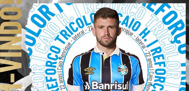 Grêmio anuncia a contratação por empréstimo de Caio Henrique