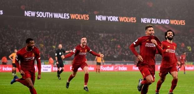 Firmino decide e Liverpool chega ao 40º jogo sem perder