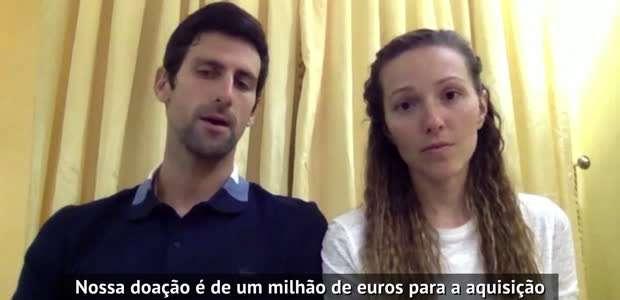 TÊNIS: Geral: Novak e Jelena Djokovic doarão 1 milhão ...