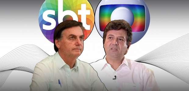 Bolsonaro no SBT e Mandetta na Globo travam guerra no Ibope