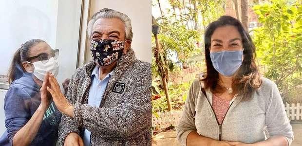 Mauricio de Sousa cumpre isolamento e vê filhas por vidro