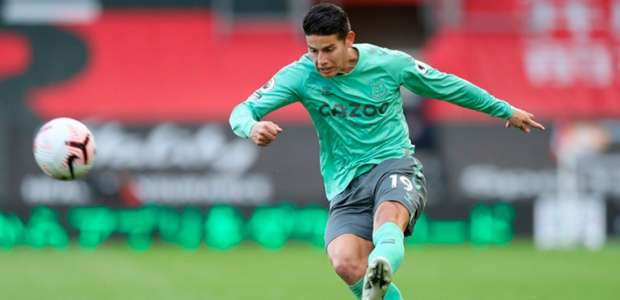 Com lesão no testículo, James Rodríguez desfalca Everton ...