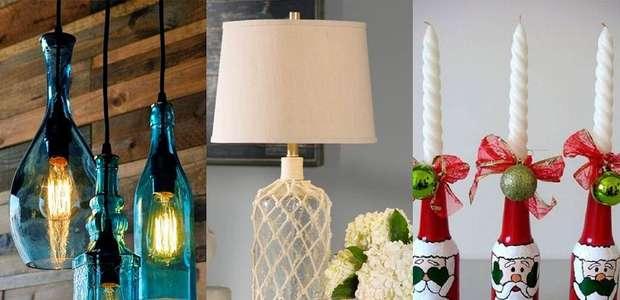 Garrafas na decoração: 7 opções criativas para ...