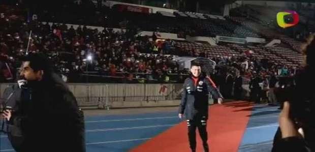 Chilenos comemoram conquista da Copa América em Santiago