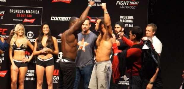 UFC São Paulo tem encaradas tensas em pesagem pré-luta