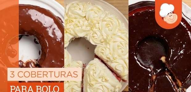 3 coberturas para bolo