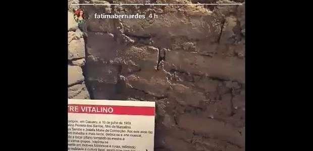 Fátima Bernardes e Túlio Gadêlha visitam museu durante viagem a Caruaru