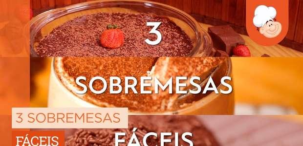 3 sobremesas fáceis