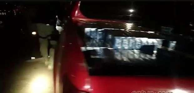 PRF e Exército prende homem com cigarros contrabandeados na BR 467