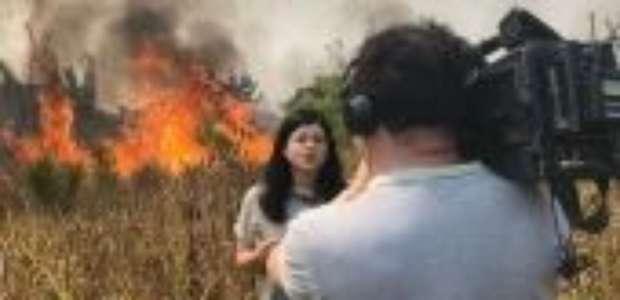 'Tivemos que correr do fogo': avanço de chamas em Rondônia surpreende equipe da BBC