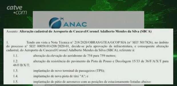 Anac aprova mudanças do Aeroporto Municipal de Cascavel
