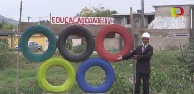 Con aros olímpicos de neumáticos barrios pobres de Río exigen beneficios