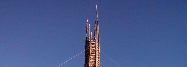 vc repórter: arraial com fogueira de 35 m faz 100 anos em SC