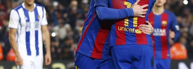 Barcelona passeia, faz 5 na Real Sociedad e vai à semifinal