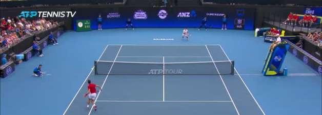 ATP Cup: Djokovic v Garin (6-3, 6-3) - melhores momentos