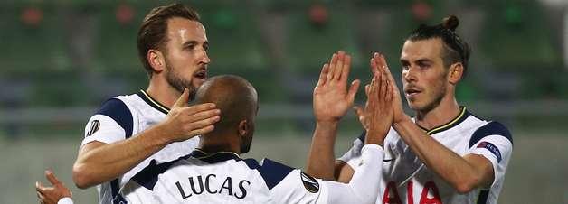 Com gol de Lucas Moura, Tottenham bate o Ludogorets e reage