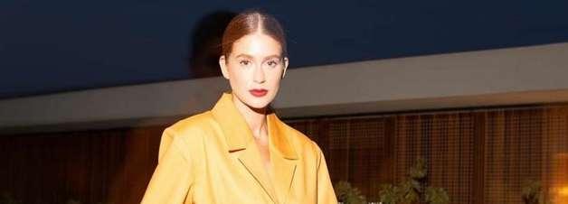 Marina Ruy Barbosa cria look fashion com calça corsário
