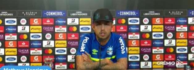 """GRÊMIO: Matheus Henrique espera desfrutar do confronto contra o Independiente del Valle, apesar da dificuldade: """"Foi sempre assim que a gente enfrentou nossas decisões"""""""