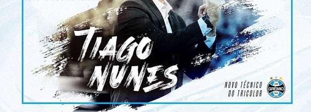 Diretoria do Grêmio anuncia a contratação do técnico Tiago Nunes até fim de 2022