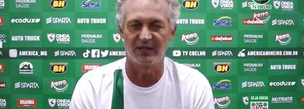 """AMÉRICA-MG: Lisca diz que time não pensa em vantagem contra o Cruzeiro e garante: """"vamos entrar para ganhar"""""""