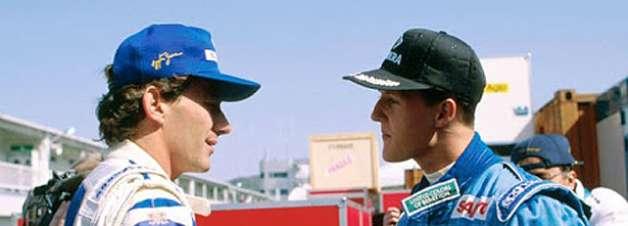 Senna desprezava Schumacher quando assinou com a Williams