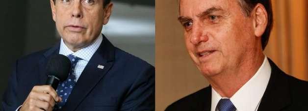 """Bolsonaro chama Doria de """"hipócrita"""" e que governador """"não respeita ninguém"""""""