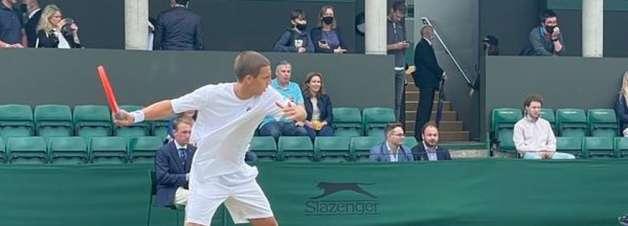 Pedro Boscardin é superado nas oitavas em Wimbledon