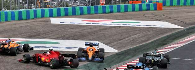 """Norris lamenta acidente """"estúpido"""" no GP da Hungria de F1"""