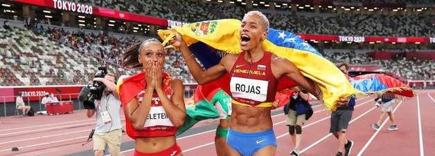 Olimpíada de Tóquio: Venezuelana ganha ouro em salto triplo feminino e bate recorde mundial