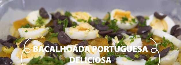 Bacalhoada portuguesa deliciosa e fácil de fazer