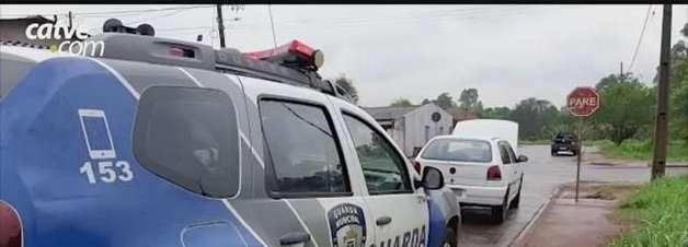 Carro é recuperado pela Guarda Municipal de Cascavel na Rua Tomaz Edison