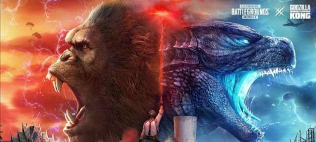 Godzilla e Kong invadem PUBG MOBILE na atualização 1.4