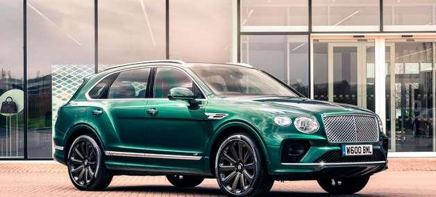 "Bentley Bentayga ganha rodas de fibra de carbono de 22"""