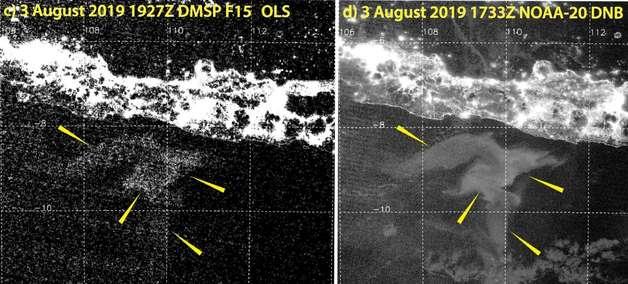 Satélites localizam os estranhos 'mares leitosos' em oceanos da Terra