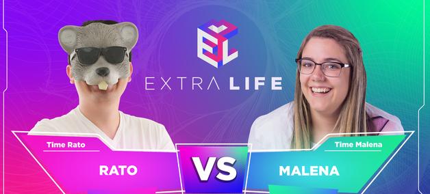 Malena e Rato disputam final do Extra Life 2021