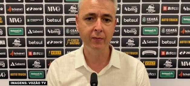 """CEARÁ: """"Nossa equipe produziu para vencer"""", avalia Tiago Nunes após empate no último minuto com o RB Bragantino"""