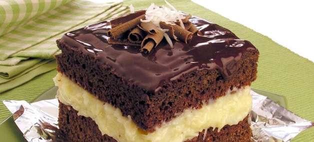 Sobremesas com chocolate e coco incríveis