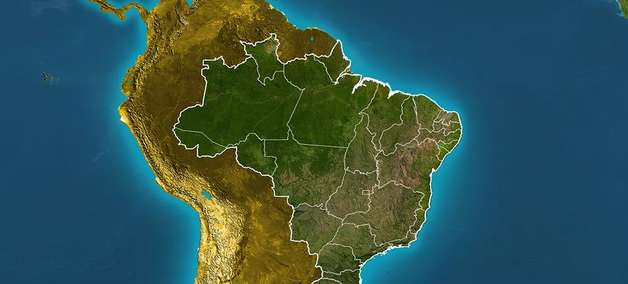 Previsão Brasil - Temporais ganham força no Sul.