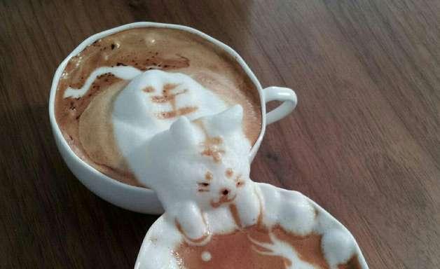 Barista japonês faz artes 3D em café; confira