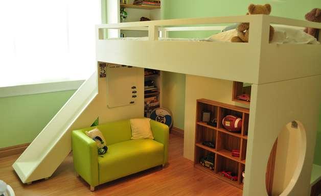 Arquiteta transforma quarto de 13 m² em playground